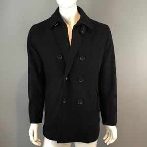 NWOT Michael Kors Mens Black Pea Coat Sz Small